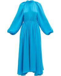 RHODE マイ オープンバック クレープドレス - ブルー