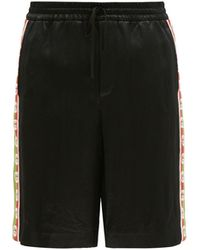Gucci サテンショートパンツ - ブラック