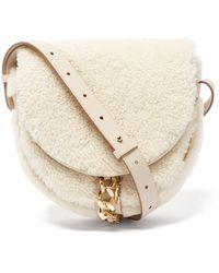 See By Chloé Mara Shearling Cross-body Bag - Natural