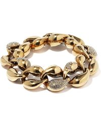 Chloé Crystal-embellished Curb-chain Bracelet - Metallic