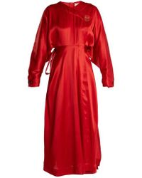 ROKSANDA - Timona Wrap Around Silk Dress - Lyst