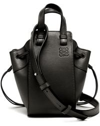 Loewe Hammock Mini Leather Cross-body Bag - Black