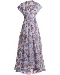 Temperley London - Elsa V-neck Floral-jacquard Gown - Lyst