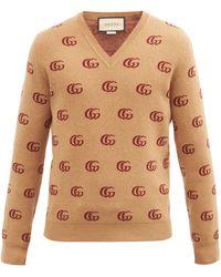 Gucci ダブルgジャカード ウールセーター - マルチカラー
