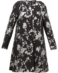 Erdem Kerianne Single-breasted Cotton-blend Brocade Coat - Black