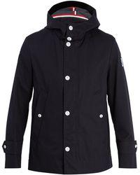 Moncler Gamme Bleu Hooded Cotton Raincoat - Black