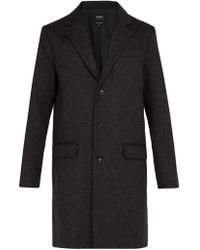 A.P.C. - Majordome Wool Blend Overcoat - Lyst