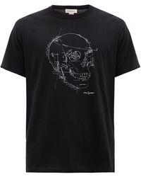 Alexander McQueen スカル コットンtシャツ - ブラック