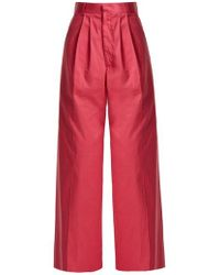 Raey - Wide-leg Cotton Chino Trousers - Lyst