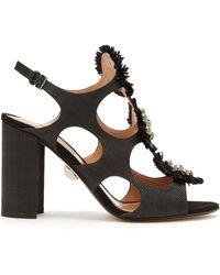 Samuele Failli - Liya Stud Embellished Raffia Sandals - Lyst