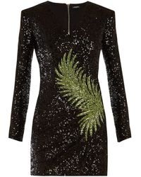ae906a04 Balmain - Sequin Embellished Mini Dress - Lyst