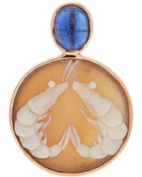 Dezso by Sara Beltran Charm crevette en or rose 18 carats et cyanite