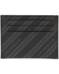 Givenchy Porte-cartes en toile enduite à imprimé logo - Noir