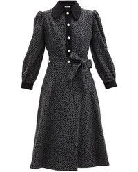 BATSHEVA - ドット ウール ラップシャツドレス - Lyst