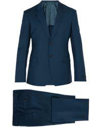 Prada - Single Breasted Wool Blend Suit - Lyst