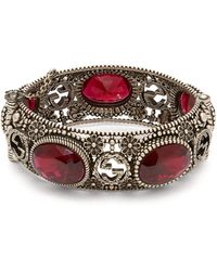 Gucci Crystal-embellished Bracelet - Red