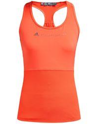 adidas By Stella McCartney Essential Mesh Panel Performance Tank Top - Orange