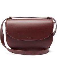 A.P.C. - Genève Leather Cross Body Bag - Lyst