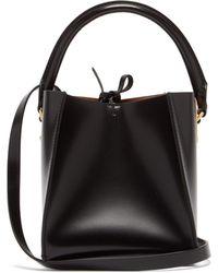 Sophie Hulme Nano Albion Cube Leather Bucket Bag - Black