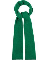The Elder Statesman Super Duper Cashmere Scarf - Green