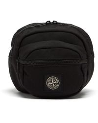 Stone Island Logo-patch Belt Bag - Black