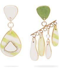 Sonia Boyajian - Mismatched Striped Ceramic Earrings - Lyst
