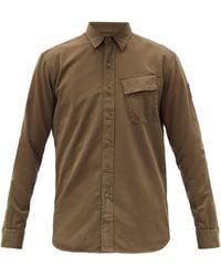 Belstaff アシンメトリーポケット コットンシャツ - マルチカラー