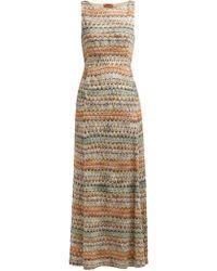 Missoni Zigzag Knit Maxi Dress - Multicolour