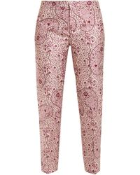 Giambattista Valli Pantalon en jacquard fleuri - Rose