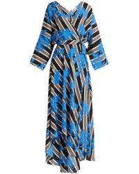 Diane von Furstenberg - Eloise Silk Wrap Midi Dress - Lyst
