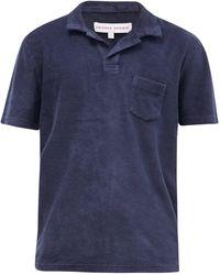 Orlebar Brown コットンテリーポロシャツ - ブルー