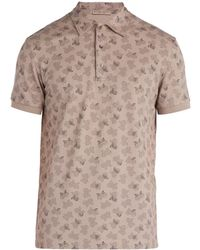 Bottega Veneta - Butterfly Print Cotton Piqué Polo Shirt - Lyst