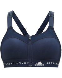 adidas By Stella McCartney トゥルーパーパス ポストマステクトミー スポーツブラ - ブルー