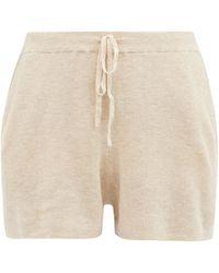 Skin Weslin Organic Cotton-blend Shorts - Natural