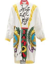 Kilometre Paris Isla Del Ray Upcycled Cotton-poplin Sundress - White