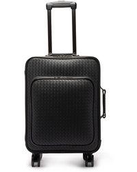 Bottega Veneta Intrecciato Leather Cabin Suitcase - Black