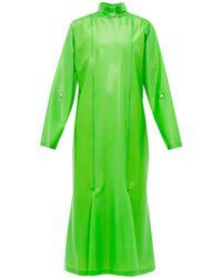 Christopher Kane Gathered Latex Midi Dress - Green