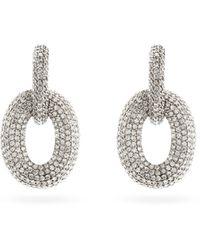 SHAY ダイヤモンド 18kホワイトゴールドピアス - マルチカラー