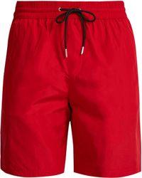 Burberry - Short de bain à bandes latérales et logo - Lyst