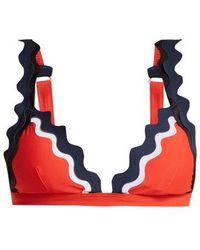 RYE SWIM - - Sunny Scallop Edged Triangle Bikini Top - Womens - Orange - Lyst