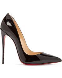 Christian Louboutin So Kate 120 Patent Leather Pumps - Black