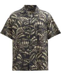 Desmond & Dempsey パルダリス コットン パジャマシャツ - マルチカラー