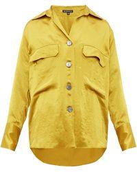 Ann Demeulemeester Loose-fit Satin Shirt - Yellow