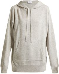 Allude - Wool And Cashmere-blend Hooded Sweater - Lyst