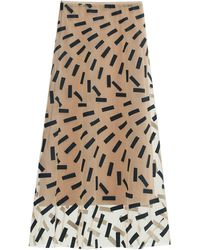 Maison Margiela Tape-print Tulle Midi Skirt - Multicolour