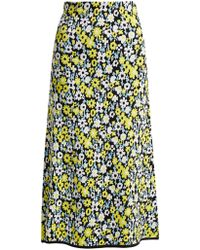 JoosTricot Floral Intarsia Stretch Jersey Skirt - Multicolor