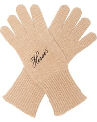 Raf Simons Heroes Embroidered Wool-blend Gloves - Multicolour