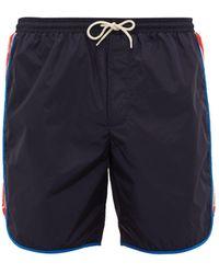 Gucci Logo-stripe Swim Shorts - Blue