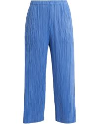 Pleats Please Issey Miyake - Classic Wide-leg Pleated Trousers - Lyst