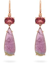 Irene Neuwirth 18kt Rose-gold And Tourmaline Drop Earrings - Pink